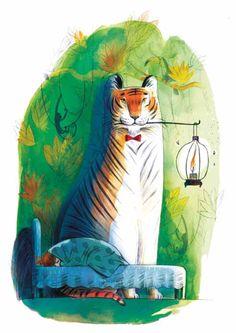 """Lena Guberman illustration for """"Aunt Margalit""""."""
