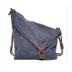 Paonies Unisex Damen Herren Canvas Leinwand Rucksack Umhängetasche Messenger Bag Schultertasche Tasche (Grau): Amazon.de: Koffer, Rucksäcke & Taschen