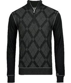 BKE Freemont Sweater - Men's Sweaters in Black Charcoal Plus Size Mens Clothing, Boy Clothing, Clothes, Boy Outfits, Dress Outfits, Men's Sweaters, Pullover Designs, Vogue, Knitwear