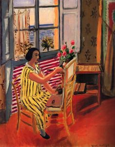 La Seance du Matin by Henri Matisse, 1924. This was painted in Matisse's studio in Nice, France