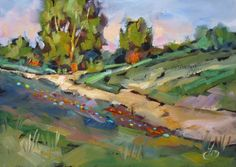 TOM BROWN 5x7 PLEIN AIR CALIFORNIA IMPRESSIONIST OIL PAINTING, painting by artist Tom Brown