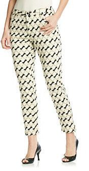 Jones New York Signature Patterned Zip-Ankle Jean - ShopStyle Skinny Denim Patterned Jeans, Ankle Jeans, Skinny Fit, Ankle Length, Cotton Spandex, Capri Pants, Pajama Pants, York, Zip