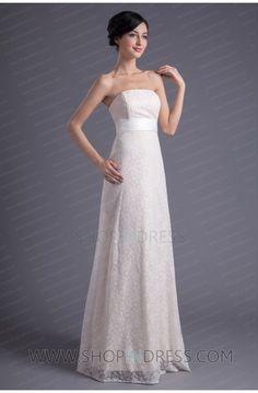 Cheap Princess Floor Length Lace Strapless Wedding Party Dress Sale 30    - Best Free Home Design Idea   Inspiration bd704570826a