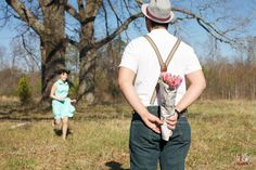 fresh flowers wrapped in newspaper - retro themed valentine's day engagement - southern couple's photographers, raleigh nc