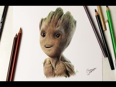Drawing Baby Groot - Guardiões da Galáxia