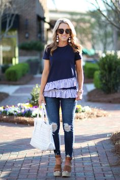 Two Peas in a Blog: Spring Ruffles in Stripes