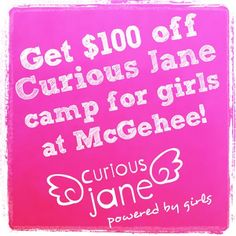Get $100 off Curious Jane this summer!