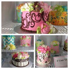 colorful buttercream cakes - white flower cake shoppe