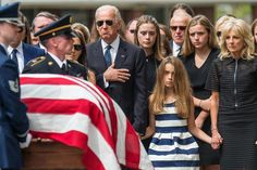 Vice President Joe Biden puts his hand on his heart as he and granddaughter Natalie and stepmother Jill Biden look on before a funeral mass for former Delaware Attorney General Beau Biden at St. Anthony of Padua Church in Wilmington Beau Biden, Jill Biden, Barack Obama, Obama Vice President, Michelle Obama, All In The Family, First Daughter, Pictures Of The Week, Funeral