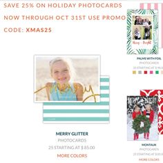 25%off holiday photo cards by oct 31st!  Www.eventsftw.com Ivy& anchor