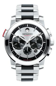 There are very few brands that I aspire to. For me, style need not be dominated by the lust for cache and status of certain brands. But I have ALWAYS wanted a Movado. Pete Sampras wore Movado. I was sold as a kid the first time I saw a Movado ad and Pete Sampras was rocking Movado