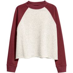 Cropped sweatshirt $24.99 ($25) ❤ liked on Polyvore featuring tops, hoodies, sweatshirts, shirts, sweaters, h&m, h&m shirts, ribbed crop top, white shirts and white crop top