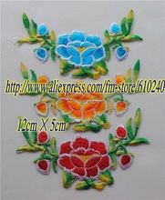 Stage garment accessories / DIY materials / fabric applique / computer embroidery flower paste / ethnic hot flowers / 046(China (Mainland))