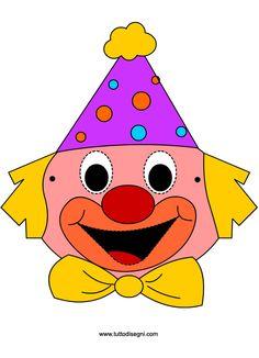 Pagliaccio - Maschere di Carnevale per bambini - TuttoDisegni.com
