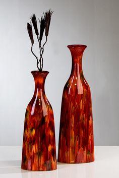"handbemalte Keramik-Vase ""Mali"" im Afrika-Style von Casablanca-Design"
