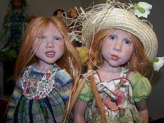 Zwergnase Dolls and Bears by Nicole Marschollek..Evalotta and Gemma