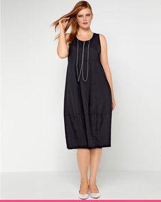 Svart kjole for store størrelser fra KLiNGEL Cold Shoulder Dress, Summer Dresses, Design, Fashion, Moda, Fashion Styles, Fasion, Summer Outfits, Summertime Outfits