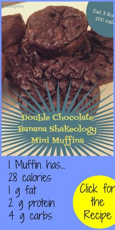 Double Chocolate Shakeology Muffins!