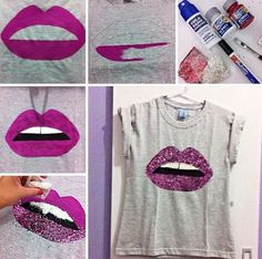 Ideas Diy Ropa Reciclada Camisetas For 2019 Fashion Wear, Diy Fashion, Fashion Clothes, Diy Camisa, Diy Vetement, Painted Clothes, Diy Couture, Clothing Hacks, T Shirt Diy