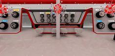 Automotive tyre showroom concept on Behance Tire Rack, Car Workshop, Tyre Shop, Pop Up, Stores, Store Design, Showroom, Concept, Boats