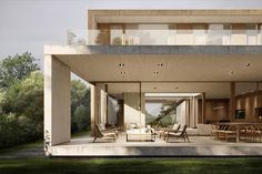 Modern Minimalist House, Minimalist Architecture, Modern House Design, Architecture Details, Arch House, Facade House, Villa Design, Facade Design, Double Storey House