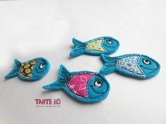 Brosche Fisch Fritz von Tante Rö auf DaWanda.com
