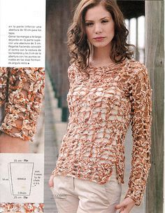 Crochetemoda: Blusas - interesting patterns + construction ideas