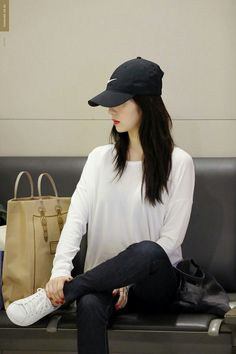 """""""irene in caps that will make you gay : a thread 😜"""" Kpop Fashion, Korean Fashion, Girl Fashion, Fashion Outfits, Seulgi, Sehun, Jessica Jung Fashion, Red Velvet Photoshoot, Red Valvet"""