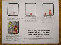 Expanded Sentences - This activity helps children see how their descriptions help create a better visual --Pitner's Potpourri: Illustrating Expanded Sentences - Freebie Daily 5 Writing, 6 Traits Of Writing, First Grade Writing, Sentence Writing, Writing Words, Cool Writing, Writing Sentences, Writing Classes, Writing Resources