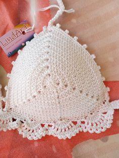 Crochet Top Outfit, Crochet Blouse, Crochet Clothes, Diy Clothes, Knit Crochet, Crochet Hats, Crochet Bikini Pattern, Crochet Patterns, Woolen Clothes