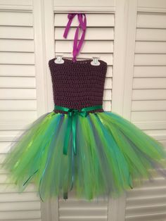 The little mermaid tutu dress for a special birthday girl Special Birthday, Girl Birthday, Little Mermaid Tutu, Tutu Dresses, Tulle, Skirts, Fashion, Moda, La Mode