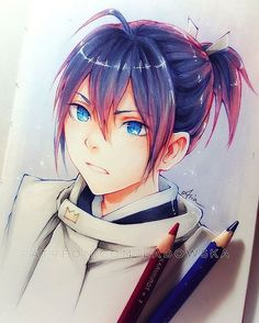 Fanart of #Yato sketched before, now in colour! If I could bring one anime character to this world it would definitely be Yato. I don't know why, I just love this character so much :D Who would you bring and why?  _ Full video, process steps, tools, HD image and lineart available on - patreon.com/ladowska ♡ Check if you want to support my work and learn my tricks ✧ _ #sketcheveryday #drawing #sketchbook #pencil #colorpencil #traditionalart #animegirl #anime #manga #noragami #illustration…