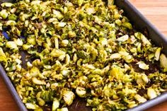 Kalyn's Kitchen®: Recipe for Shredded and Roasted Brussels Sprouts with Toasted Almonds and Parmesan (Low-Carb, Gluten-Free) Shaved Brussel Sprouts, Shredded Brussel Sprouts, Brussel Sprout Salad, Brussels Sprouts, Thanksgiving Vegetables, Thanksgiving Side Dishes, Low Carb Side Dishes, Veggie Side Dishes, Clean Eating Salads
