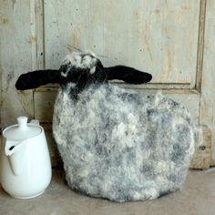 Tea cozy Handmade Felted teapot cozy Animal Sheep Felt by jannio