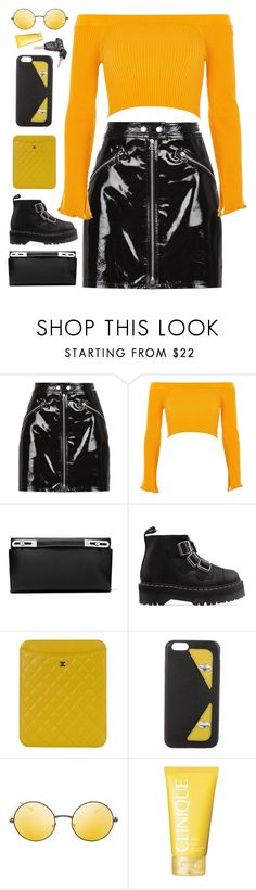 """Sunset"" by mode-222 ❤ liked on Polyvore featuring rag & bone, River Island, Loewe, Dr. Martens, Chanel, Fendi, Topshop and Clinique"