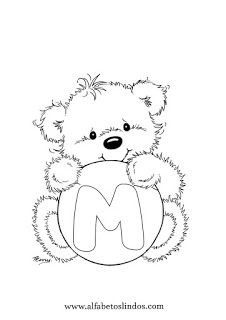 Bunny Coloring Pages, Alphabet Coloring Pages, Adult Coloring Pages, Coloring Books, Wedding String Art, Polar Bear Drawing, Alphabet Letter Templates, Teddy Beer, Gravure Laser