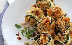 Involtini gratinati di zucchine