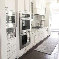 Best 100 white kitchen cabinets decor ideas for farmhouse style design (5)