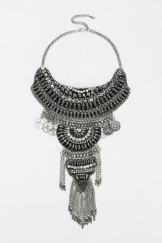 This one is on sale for $39 $39 seriously? Taza Leather Chain Statement Necklace