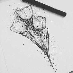 85 Super Cute Tulip Tattoo Designs Ideas For Women Foot Tattoos, Flower Tattoos, Body Art Tattoos, Small Tattoos, Sleeve Tattoos, Tatoos, Tattoo Design Drawings, Tattoo Sketches, Tattoo Designs