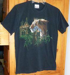 Men's DISNEY Animal Kingdom ASIA TIGER Black T-SHIRT Short Sleeve Chest 41 sz M   eBay