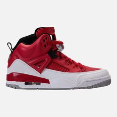 lowest price 0201c 16e8b Right view of Men s Air Jordan Spizike Off-Court Shoes in Gym Red White Wolf  Grey