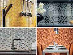 Mosaikkfliser i utallige varianter og farger, som glass, marmor og keramikk. #flisekompaniet