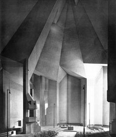 Pilgrimage Church, Neviges, Germany, 1962 Architect: Gottfried Bohm