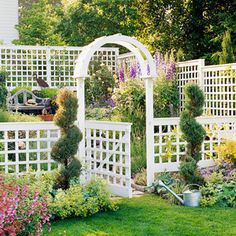 Trellis Design Ideas: Trellises With Fences Or Screens