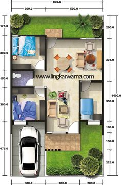 Three bedroom house plan inspire group home - Home Inspiration 3d House Plans, Model House Plan, Small House Floor Plans, Dream House Plans, Home Map Design, Home Design Plans, Three Bedroom House Plan, Small Bungalow, House Map