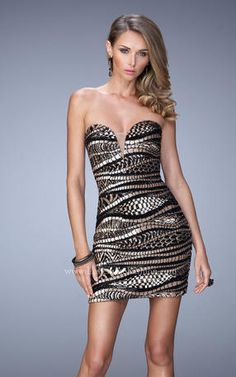 La Femme Short Dresses - 21987