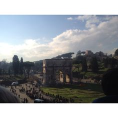 View from the colosseum.