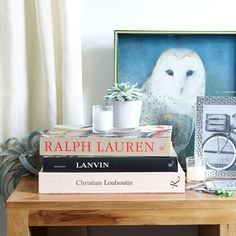 Outfit your living room with coffee table books.