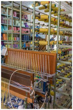 Teixits Vicens in Pollenca Mallorca - Robes de Llengües - Zungenstoffe - Ikat Technik